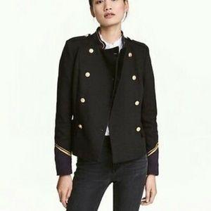 h&m sailor blazer size 2 never worn